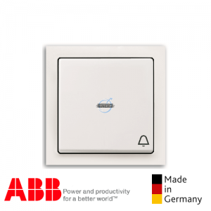 ABB future® linear Bell Press Switch Matt White