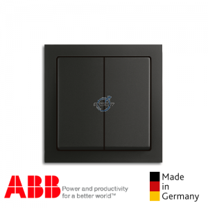 ABB future® linear 2 Gang Switch Matt Black