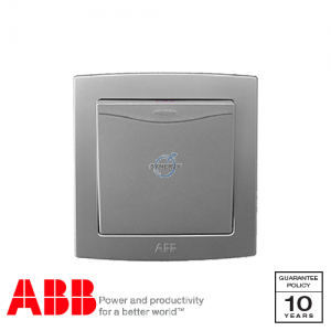 ABB Concept bs Double Pole Switches Silver