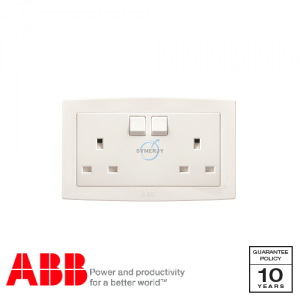 ABB Concept bs 2 Gang Socket Outlets White
