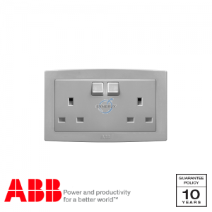 ABB Concept bs 2 Gang Socket Outlets Silver