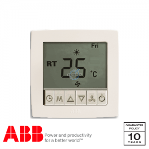 ABB Concept bs Thermostat Controller with Display White