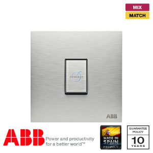 ABB Millenium 1 Gang Intermediate Switch - Stainless Steel