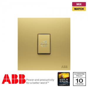 ABB Millenium 1 Gang Retractive Switch - Matt Gold