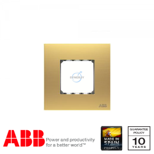 ABB Millenium 1 Gang Cover Frame Matt Gold
