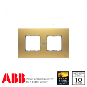 ABB Millenium 2 Gang Cover Frame Matt Gold