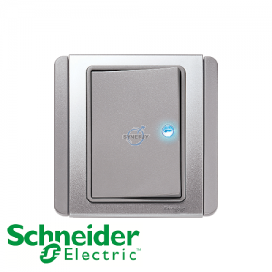 Schneider E3000 Horizontal Switch w/ LED Grey Silver