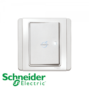 Schneider E3000 Horizontal Switch w/ LED White