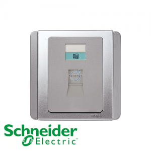 Schneider E3000 Telephone Socket Grey Silver