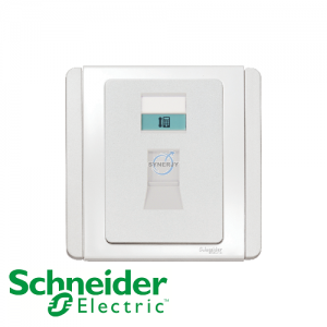 Schneider E3000 Telephone Socket White