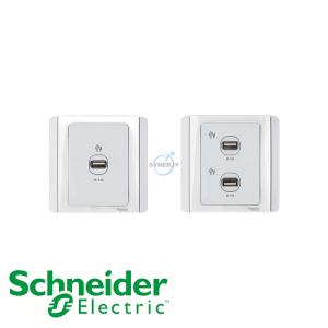 Schneider E3000 USB Socket White