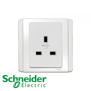 Schneider E3000 1 Gang Socket Outlet White