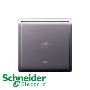 Schneider PIENO Switches with Fluorescent Locator Lavender Silver