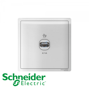 Schneider PIENO 1 Gang USB Socket Outlet White