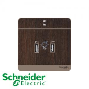 Schneider AvatarOn USB Socket Wood