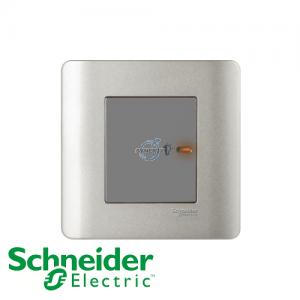 Schneider ZENcelo 1 Gang Dimmer Switch Silver Satin