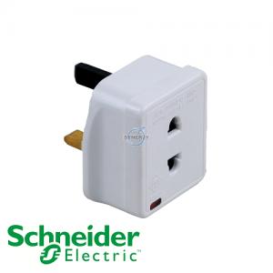 Schneider Powex 13A Shaver Adaptor w/ Neon - 1A Fuse