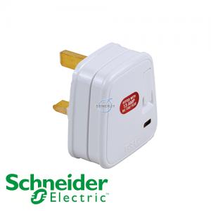 Schneider Powex 13A Fused Plug w/ Neon & Switch
