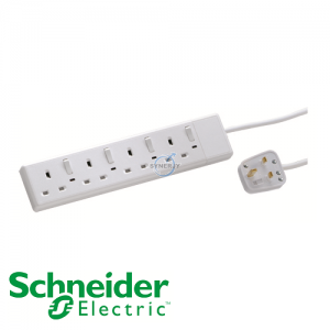 Schneider Powex Switched Neon Extension Socket (with 3m Cable)