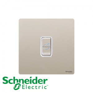 Schneider Ultimate Retractive Switch Pearl Nickel White