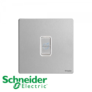 Schneider Ultimate Retractive Switch Stainless Steel White