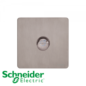 Schneider Ultimate 1 Gang Dimmer Stainless Steel