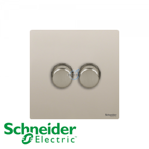 Schneider Ultimate 2 Gang Dimmer Pearl Nickel