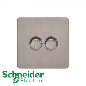 Schneider Ultimate 2 Gang Dimmer Stainless Steel