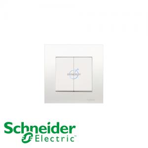 Schneider Vivace 10A 2 Gang Press Switch