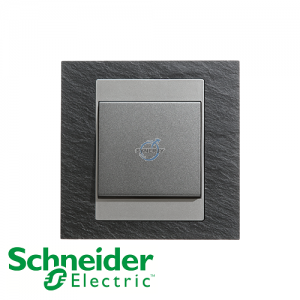Schneider Unica 1 Gang 1 Way Switch Natural Slate
