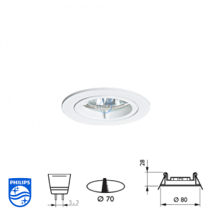Philips QBS 026 Spotlight Fitting