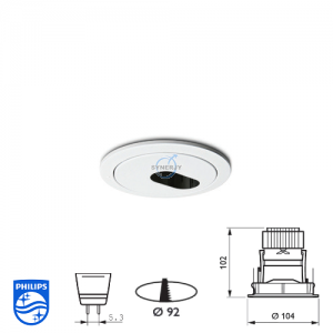 Philips QBS 043 Spotlight Fitting