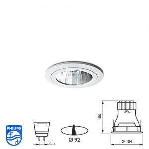 Philips QBS 044 Spotlight Fitting