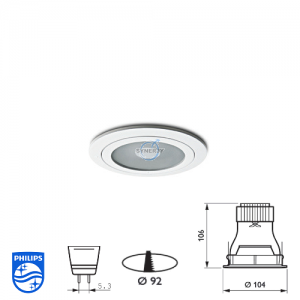Philips QBS 048 Spotlight Fitting