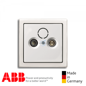 ABB future® linear TV FM Socket Matt White