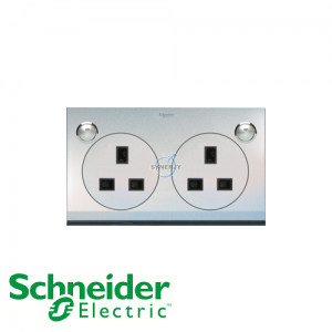 Schneider ULTI 13A 2 Gang Switched LED Socket