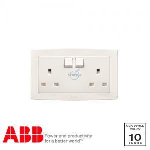ABB Concept bs 兩位 電源插座 白