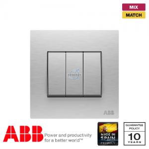 ABB Millenium 三位 開關掣 - 不銹鋼