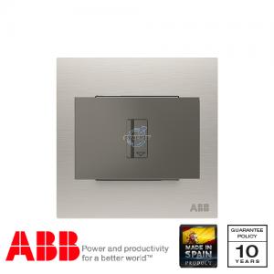 ABB Millenium 插卡開關 連LED指示燈 - 不銹鋼