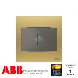 ABB Millenium 插卡開關 連LED指示燈 (5-90秒延時) - 磨砂金
