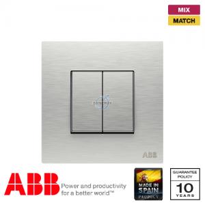 ABB Millenium 兩位 復位 開關掣 - 不銹鋼
