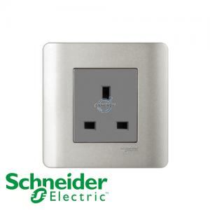 施耐德 ZENcelo 單位 電源 插座 銀灰色