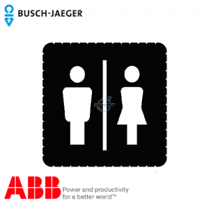 Busch-iceLight® 标志牌 (Ladies'/mens' toilet)