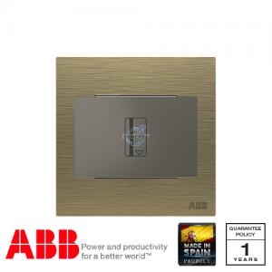 ABB Millenium 插卡开关 连LED指示灯 (5-90秒延时) - 古董金