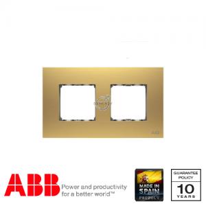 ABB Millenium 两位 边框 磨砂金