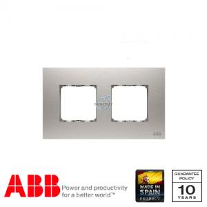 ABB Millenium 两位 边框 不锈钢