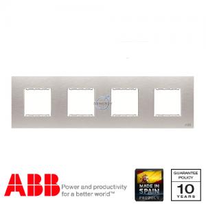 ABB Millenium 四位 边框 不锈钢