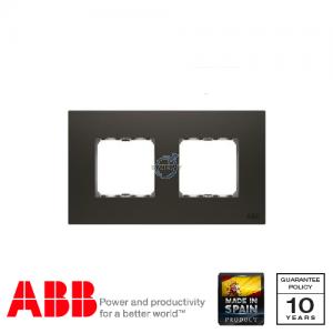 ABB Millenium 两位 边框 丝绸黑