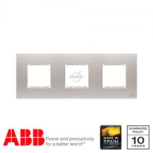 ABB Millenium 三位 边框 不锈钢