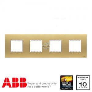 ABB Millenium 四位 边框 磨砂金